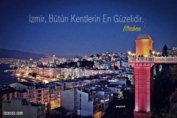 İzmir ile İlgili Sözler