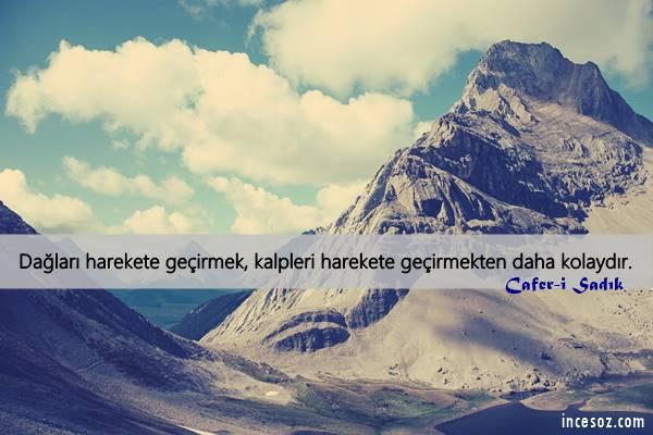 Dağlar ile İlgili Sözler